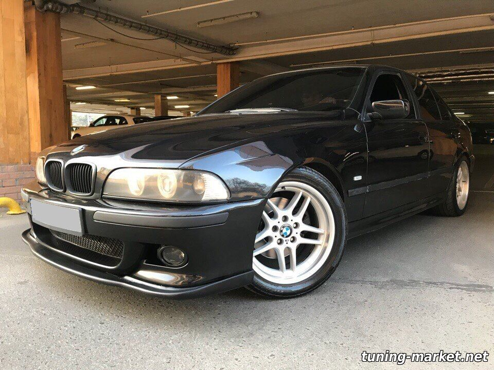 Установка накладки на М-бампер BMW E34, E39, F30, X6 с помощью крепежа, который идет в комплекте