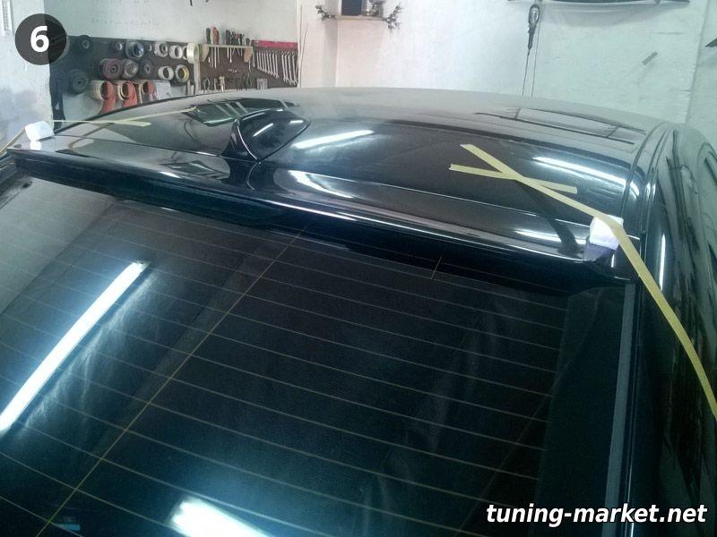 Установка козырька заднего стекла на BMW E36, E39, E60, F10; спойлера BMW E39, E46; ресниц BMW E39, E60 на герметик PU-50