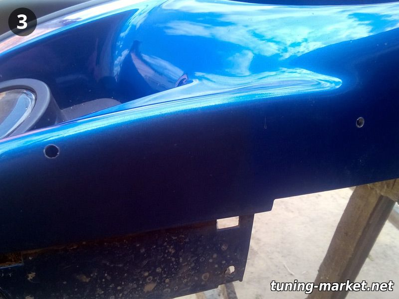 Установка накладки на М-бампер BMW E34, E39, F30, X6 с помощью крепежа, который идет в комплекте.